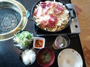 バラ焼き定食1